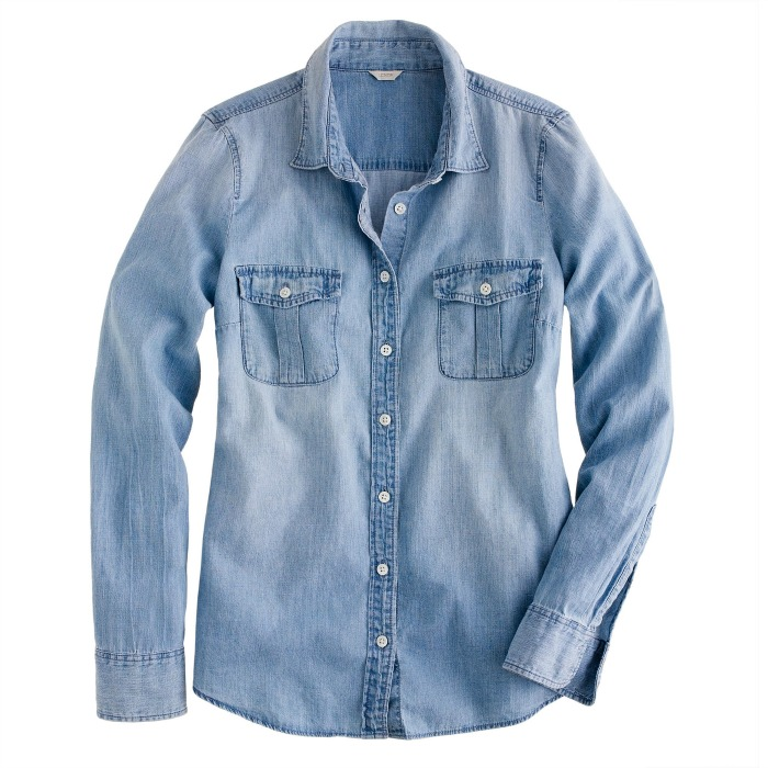 Shop the Women's Western Chambray Shirt In Vintage Indigo at liveblog.ga and see the entire selection of Women's Shirts. Free Shipping Available.