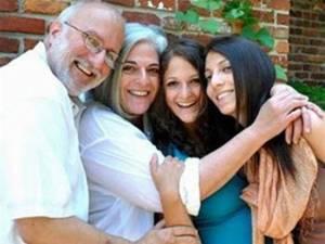 Alan Gross, cuando estaba libre, con su familia