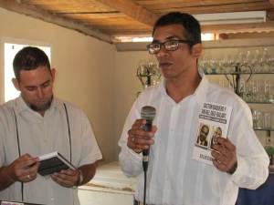 Gustavo Pérez Silverio durante su presentación
