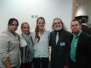 Con Mitzy Ledezma C @esmitzyhija hija del prisionero politico venezolano Antonio Ledezma, y otros activistas cubanos participantes en Forum 2000