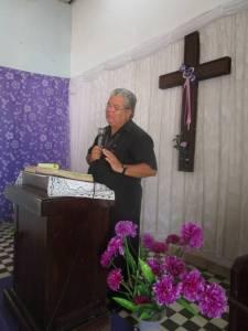 P. Jose Conrado en su discurso de agradecimiento