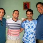 Junto a Henry Constantin con los pastores Yiorvis Bravo Denis y Bernardo de Quesada