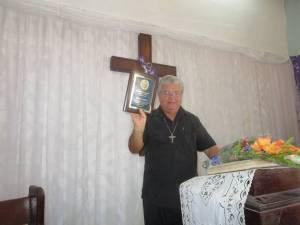 El P. José Conrado fue el premiado por el Instituto Patmos en 2015