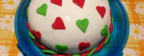 Ciambellone Dolcecuore al cioccolato farcito con Nutella e panna