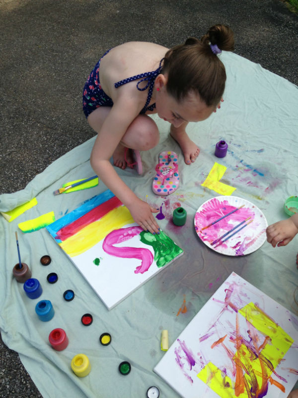 Paint Party: finger painting