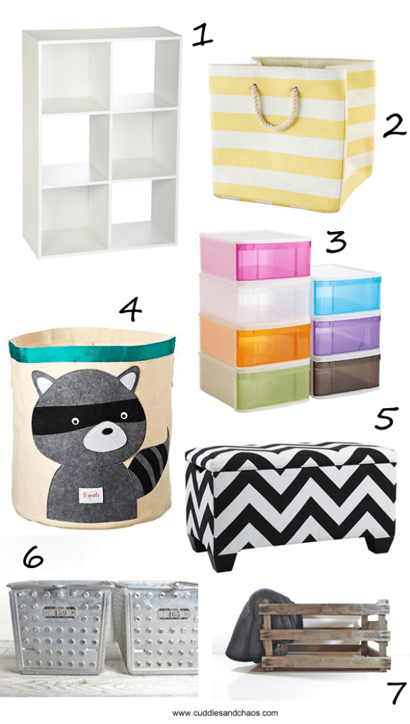 shopping for playroom organization