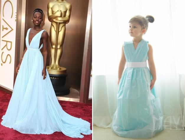 Mayhem's paper recreation of Lupita Nyong'o's Oscars gown