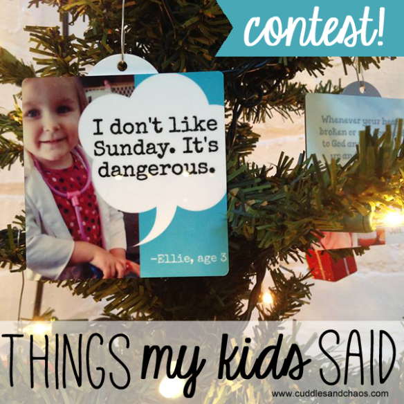 Things My Kids Said contest with LittleHoots