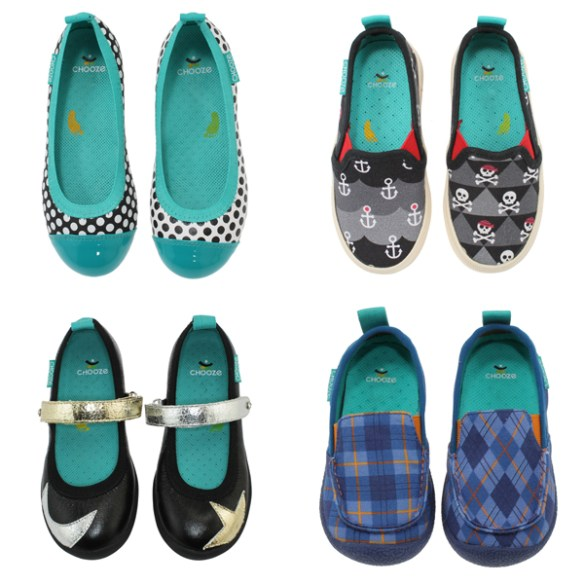 variety of Chooze shoes