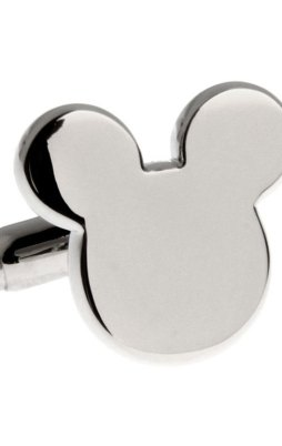 Cufflinks silver Mickey Mouse head.