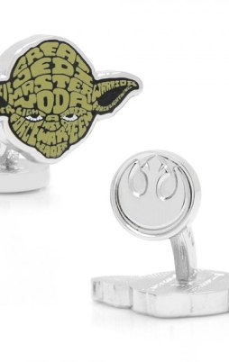 Cufflinks Yoda. Star wars.