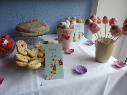 Sweet table thème fées - cuisine de Deborah