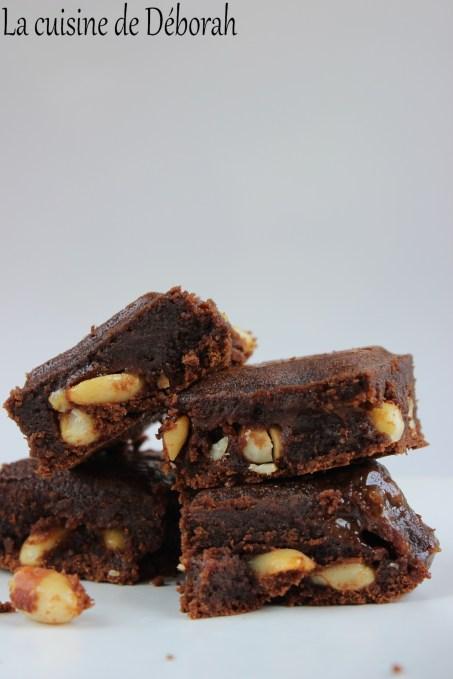 Brownie chocolat, caramel et cacahuètes   Cuisine de Deborah