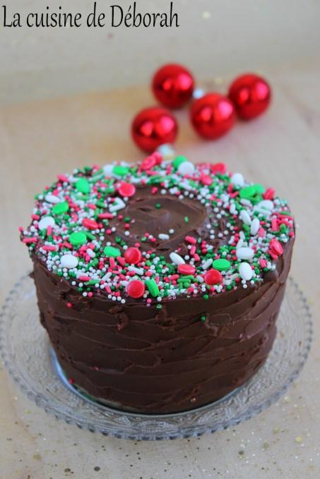 Gâteau de Noël noix et chocolat   La cuisine de Deborah