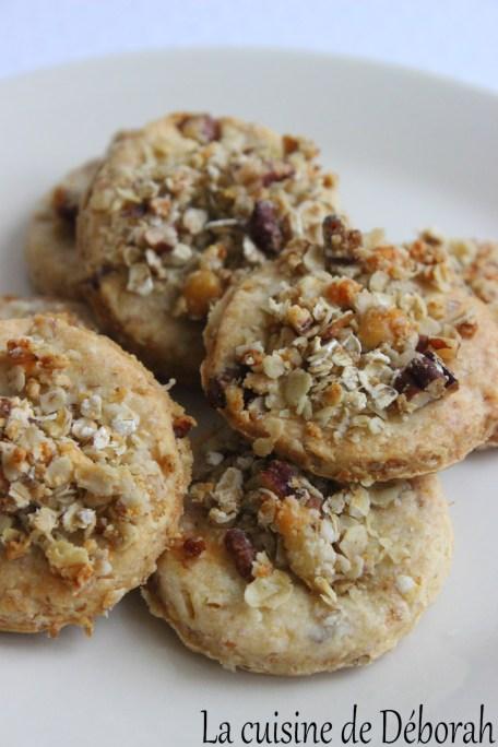 Sablés crumble au roquefort et aux noix   Cuisine de Déborah
