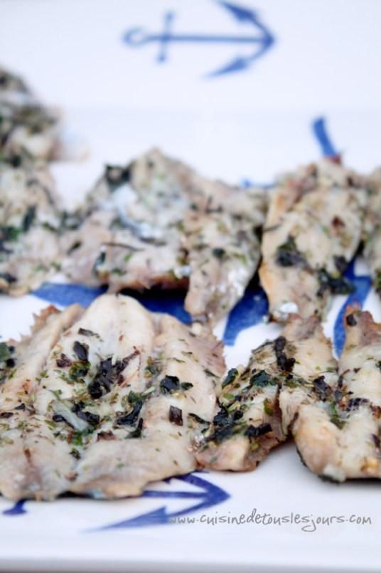 Sardines marin es cuites au barbecue cuisine de tous les jours - Sardine grillee au barbecue ...