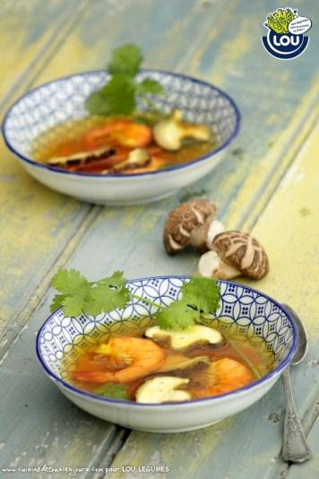 BOUILLON DE CREVETTES & SHIITAKES - Cuisine de tous les jours pour Lou Légumes
