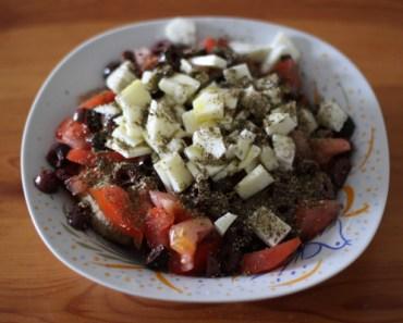 salade tomate haloumi