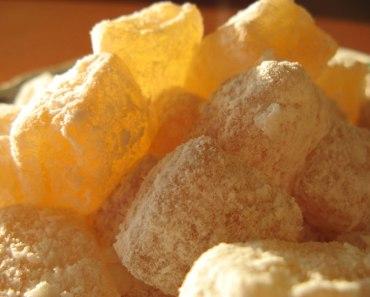 photo et recette de loukoums, loukoum au citron sur l image