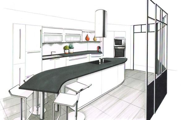 Le r le de la couleur dans la cuisine cuisines et bains for Les plus beaux ilots de cuisine versailles