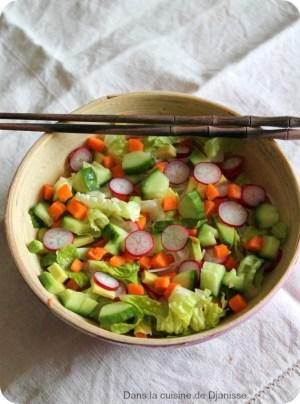 """Salade """"rouleaux de printemps"""""""