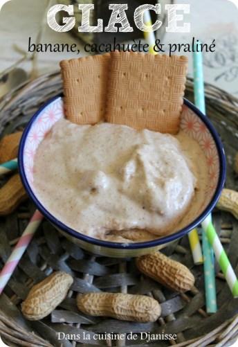 Crème glacée banane cacahuète et praliné