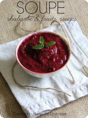 Soupe de fruits rouges et rhubarbe {vegan, sans gluten}