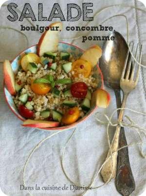 Salade de boulgour, pommes et petits légumes (sans gluten)
