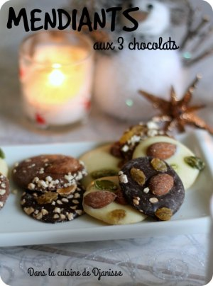 Vegan recipe : 3 chocolates mendiants