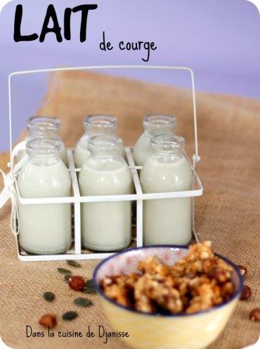 Recette végane : lait de courge
