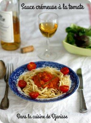Vegan : sauce crémeuse à la tomate
