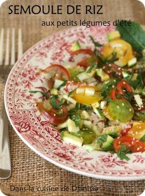 Semoule de riz aux légumes d'été (vegan et sans gluten)