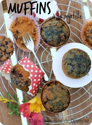 Muffins vegans sans gluten à la myrtille