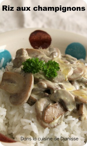 riz sauce champignons