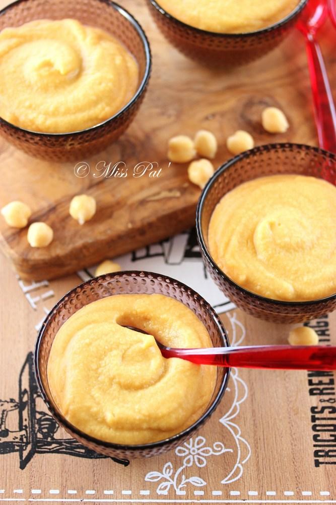 Crème miso blanc et pois-chiche misspat