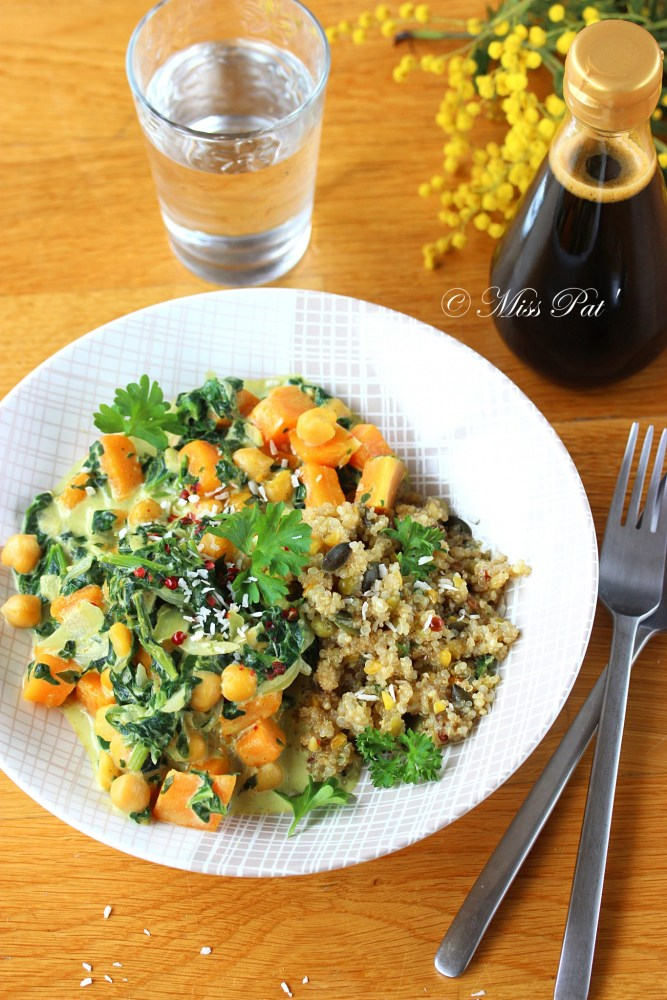 Curry quinoa et butternut misspat