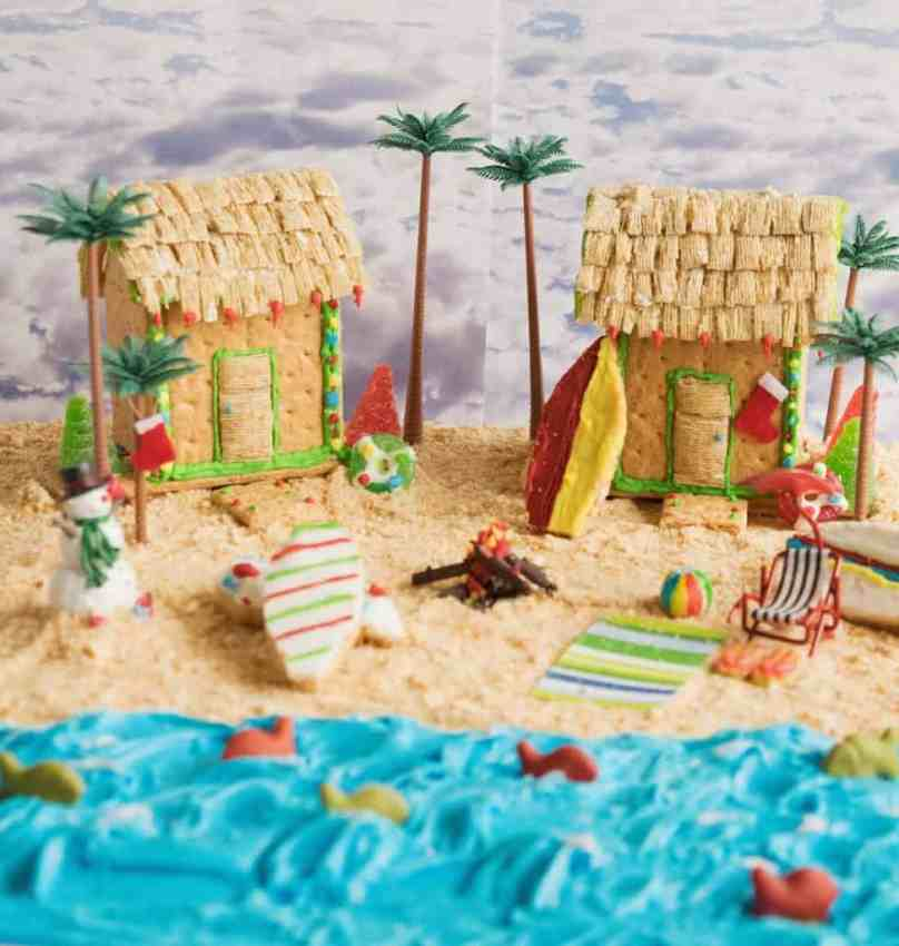 Graham cracker beach house & peanut butter cookie ...