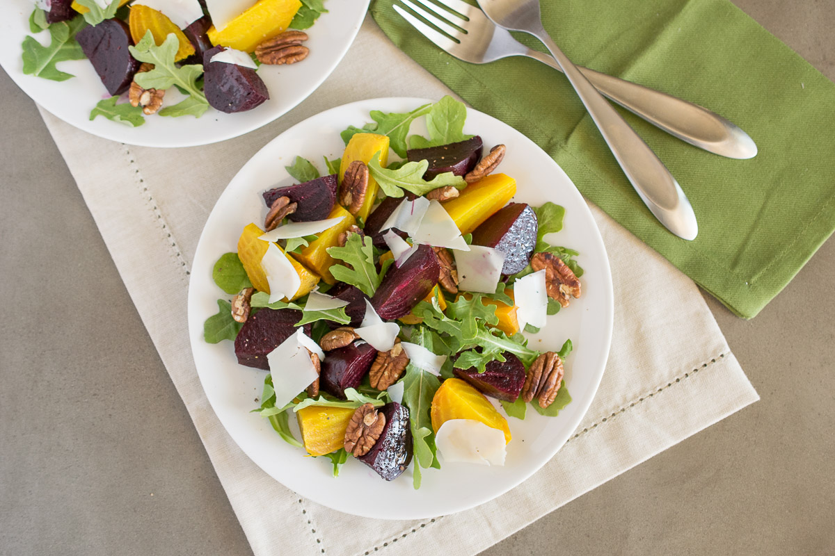 Roasted beet salad - Culinary Ginger