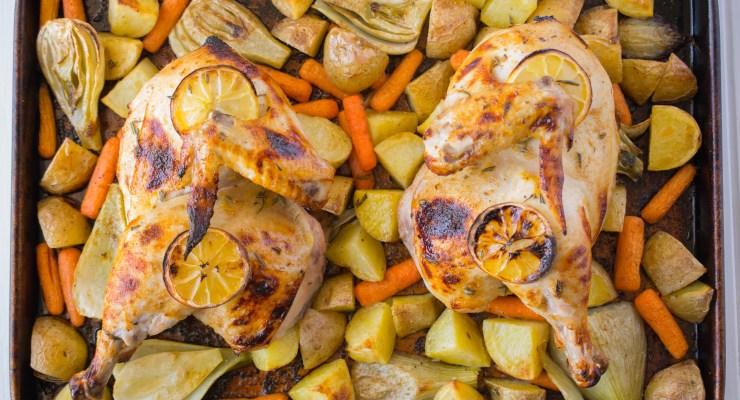Sheet pan roast chicken & vegetables