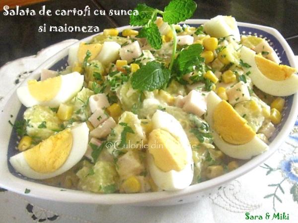 Salata de cartofi cu sunca si maioneza-3-1