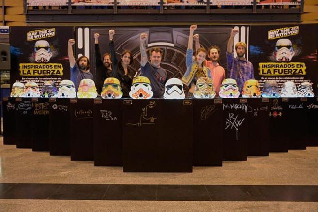 Artistas + cascos + Evento Star Wars - Abasto