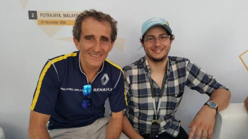 Alain Prost y Jorge Abreu