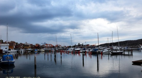 Harbour in Grebbestad in Bohuslan, West Sweden