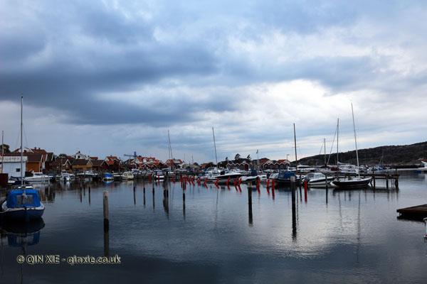 Harbour in Grebbestad in Bohuslan, West Sweden