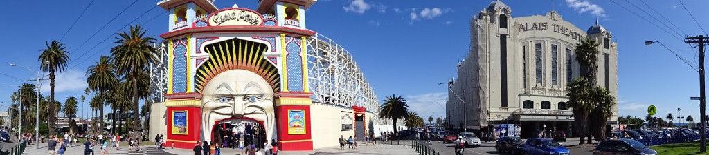 Luna Park and Palais Theatre in St Kilda