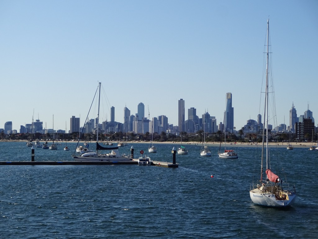Melbourne Skyline as seen from St Kilda