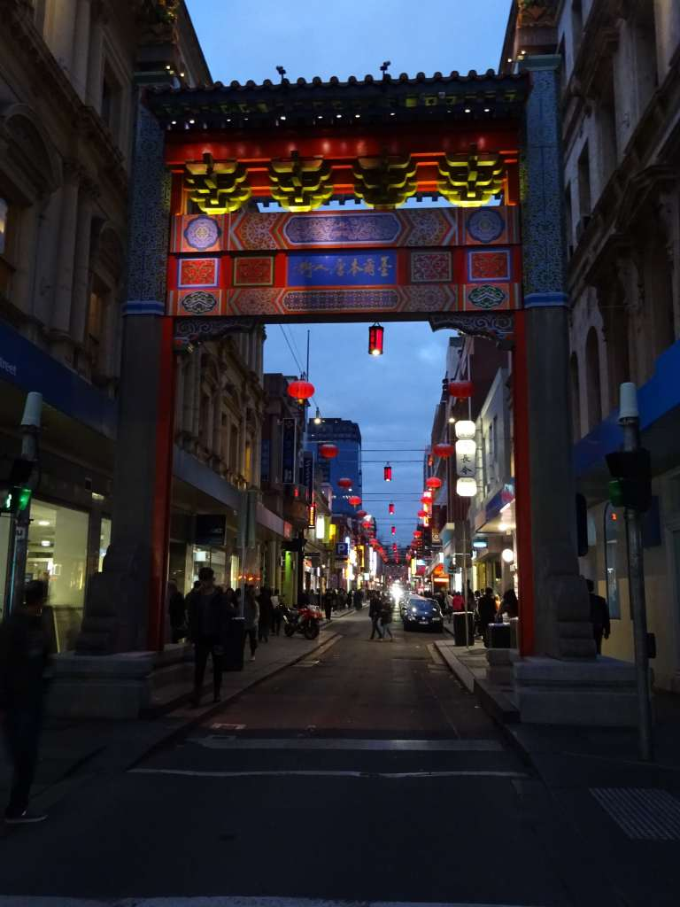 Chinatown at night, Melbourne