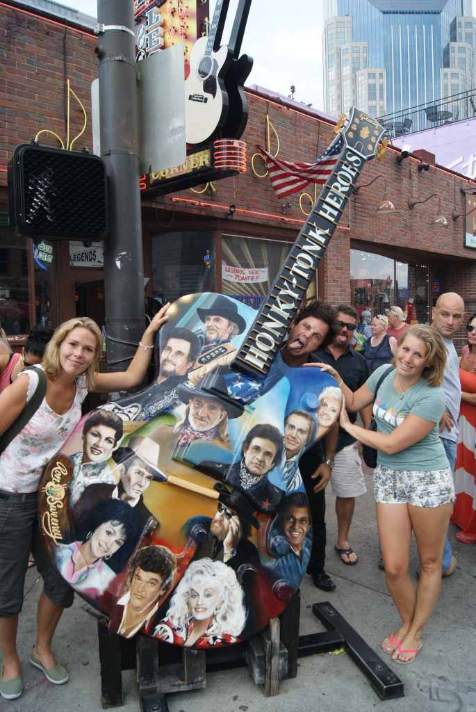Photo bombed at the Guitar on Broadway in Nashville