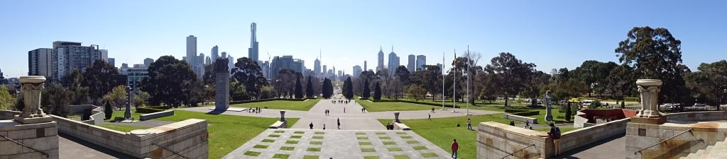 Panoramic View from the Shrine of Remembrance, Melbourne