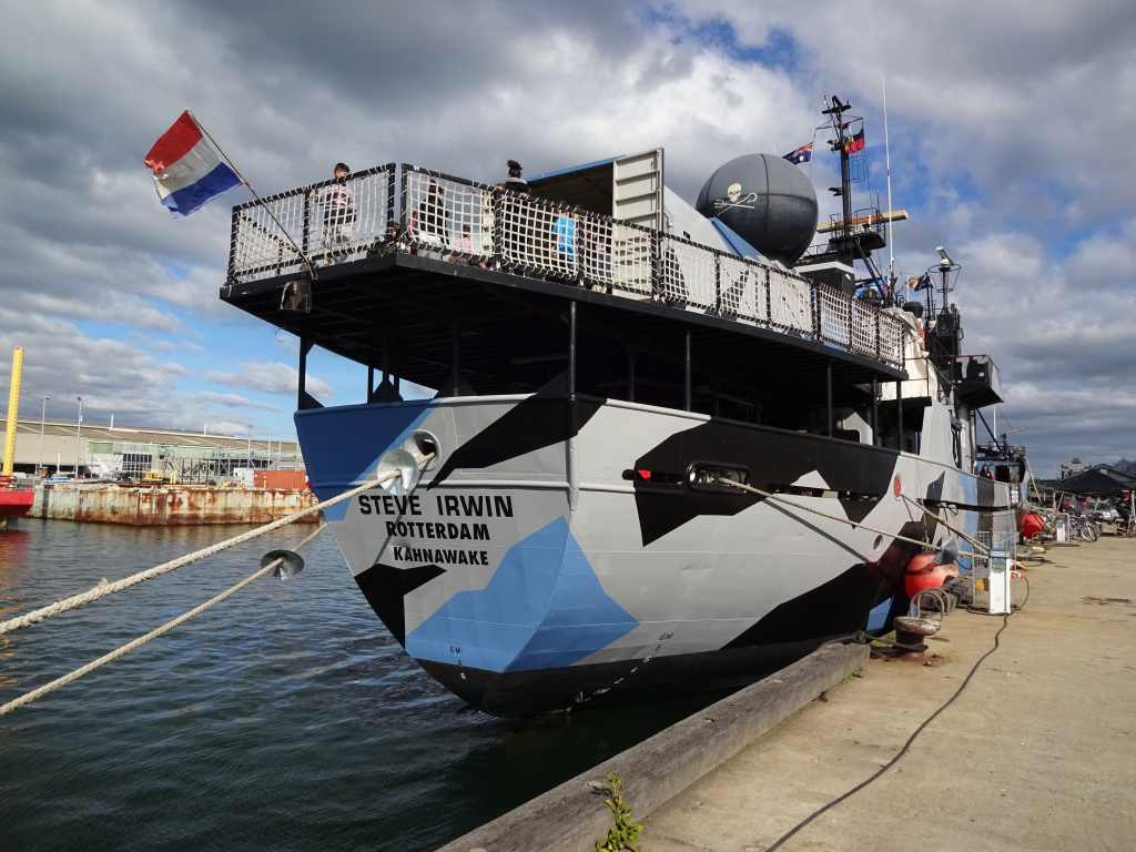 Sea Shepherd flagship Steve Irwin registered in Rotterdam, Netherlands